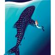 Whale and Girl. Un proyecto de Ilustración e Ilustración digital de Pietari Posti / Studio Posti - 14.06.2019