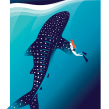 Whale and Girl. A Illustration, and Digital illustration project by Pietari Posti / Studio Posti - 06.14.2019