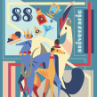 Los Galgos Bar poster. Un proyecto de Ilustración, Ilustración vectorial, Diseño de carteles e Ilustración digital de Patricio Oliver - 18.06.2020