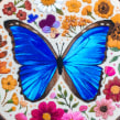 Blue Morpho Butterfly. A Embroider project by Emillie Ferris - 06.14.2018