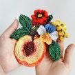 Peachy. A Embroider project by Josefina Jiménez - 07.17.2020