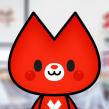 Domestikat, mascota para Domestika. Un proyecto de Ilustración y Diseño de personajes de Estudio Kudasai - 04.04.2018