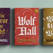 Capas para coleção Wolf Hall. Um projeto de Design editorial, Tipografia, Caligrafia, Lettering, Lettering digital, Desenho tipográfico, H e lettering de Cyla Costa - 28.07.2020