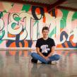 Mural COLETIVIDADE pintado em Escola Municipal de Curitiba com a ajuda das crianças. A Painting, Calligraph, Lettering, T, pograph, design, H, Lettering & Ink Illustration project by Cyla Costa - 07.28.2020