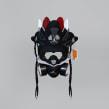 AJ Retro 4 BRED Mask. A Street Art project by Juan Pablo Bello (MYSNKRS Customs) - 08.01.2020