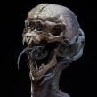 Alien Skull. Un proyecto de 3D, Modelado 3D y Diseño 3D de Juan Novelletto - 19.08.2020