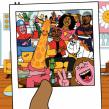 Tinie Tempah 'Moncler'. Un proyecto de Ilustración y Animación 2D de Rob Flowers - 26.06.2020
