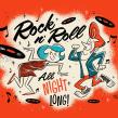 Rock n´Roll, all night long! . Un proyecto de Ilustración, Diseño de personajes, Tipografía, Dibujo a lápiz e Ilustración digital de Ed Vill - 31.08.2020