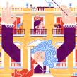 Bienvenidos a Palacio. Um projeto de Ilustração, Publicidade, Ilustração vetorial, Desenho, Ilustração digital e Ilustração Arquitetônica de Carlos Arrojo - 13.09.2020