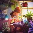 Niño Planta . Un proyecto de Ilustración, Diseño de personajes, Ilustración digital y Concept Art de Gaby Zermeño - 19.10.2020