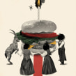 Día de la hamburguesa. A Collage, Digital illustration, and Narrative project by Nuria Mel. - 10.19.2020