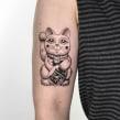 Tatuaje 05. Un proyecto de Ilustración, Dibujo, Dibujo artístico, Diseño de tatuajes y Dibujo digital de Diana Felix - 28.10.2020