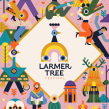 Larmer Tree Festival Poster. A Illustration, and Poster Design project by Owen Davey - 02.06.2020