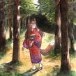 Into the Woods. Un proyecto de Ilustración y Pintura a la acuarela de Daniela López Marín - 01.03.2020