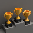 Trophy Collection. A 3-D und Produktdesign project by Agustín Arroyo - 10.11.2020