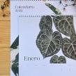 Calendario 2021. Un proyecto de Diseño, Ilustración, Pintura, Papercraft, Dibujo, Pintura a la acuarela e Ilustración botánica de Isabela Quintes - 10.11.2020