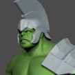 Hulk Study 3D model ZBrush. Un proyecto de Modelado 3D de Carlos Sifuentes Haro - 19.11.2020