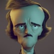 Allan Poe on Blender. A 3D, and 3D Animation project by Carlos Sifuentes Haro - 04.29.2018