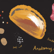 Anatomy of a Cornish Pasty. A Digital illustration, and Editorial Illustration project by Melanie Chadwick - 11.25.2018