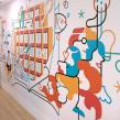 Mural Vocento. Um projeto de Ilustração, Design de interiores, Ilustração vetorial, Desenho e Ilustração digital de Carlos Arrojo - 02.12.2020