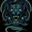 Cougar X Snakes. Un proyecto de Ilustración e Ilustración digital de Daniele Caruso - 22.12.2020
