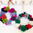 Pompom wreath colour combinations. A Crafts project by Christine Leech - 01.09.2021