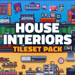 Pixel Art Tileset: House Interiors. A Video game, Pixel Art, Game Design, and Game Development project by Daniel Benítez - 01.09.2020
