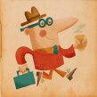 Back to Work! . A Illustration, Character Design, Pencil drawing, Drawing, Digital illustration, Children's Illustration, and Digital Drawing project by Ed Vill - 01.22.2021