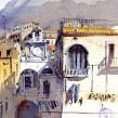 Atrani - Amalfi Coast. Um projeto de Arquitetura, Artes plásticas, Desenho, Pintura em aquarela e Desenho artístico de yolahugo - 05.02.2021
