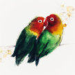 Love birds. A Watercolor Painting project by Sarah Stokes - 02.14.2021