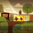 Canal + Weeds (promo). Un proyecto de Ilustración, Motion Graphics, Cine, vídeo, televisión, Animación, Dirección de arte, Diseño de personajes, Diseño de títulos de crédito, Televisión, Stor, telling, Stor y board de David Duprez - 10.02.2011