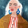 NINA. Un proyecto de Ilustración, Diseño de moda, Pintura a la acuarela y Dibujo de Retrato de Valentina Armstrong - 16.03.2021