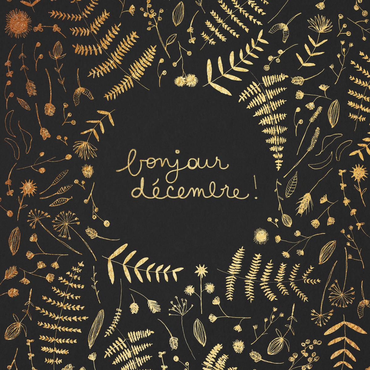 December gold foil poster | Domestika