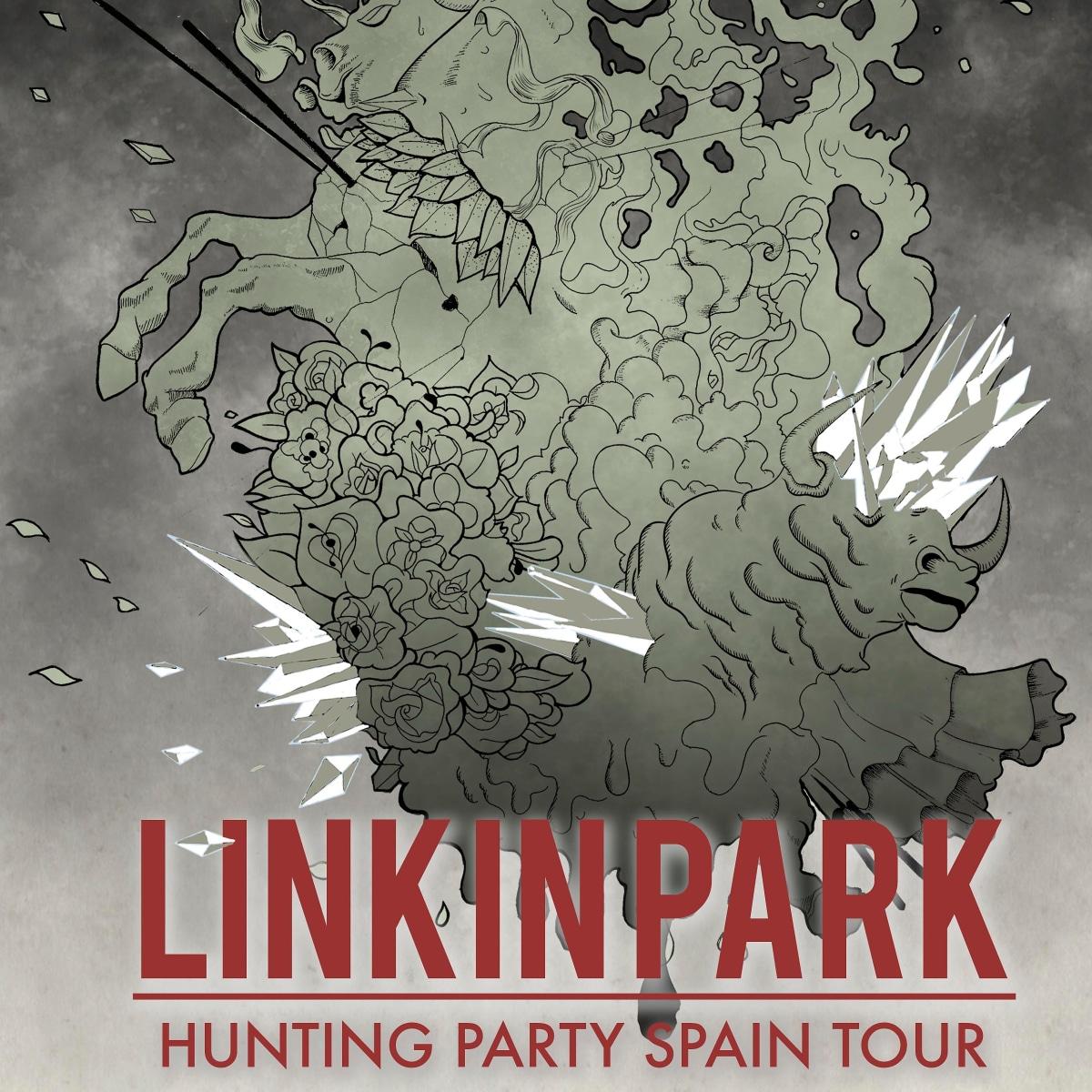 Ejemplo De Cartel De Linkin Park Hunting Party Spain Tour Domestika