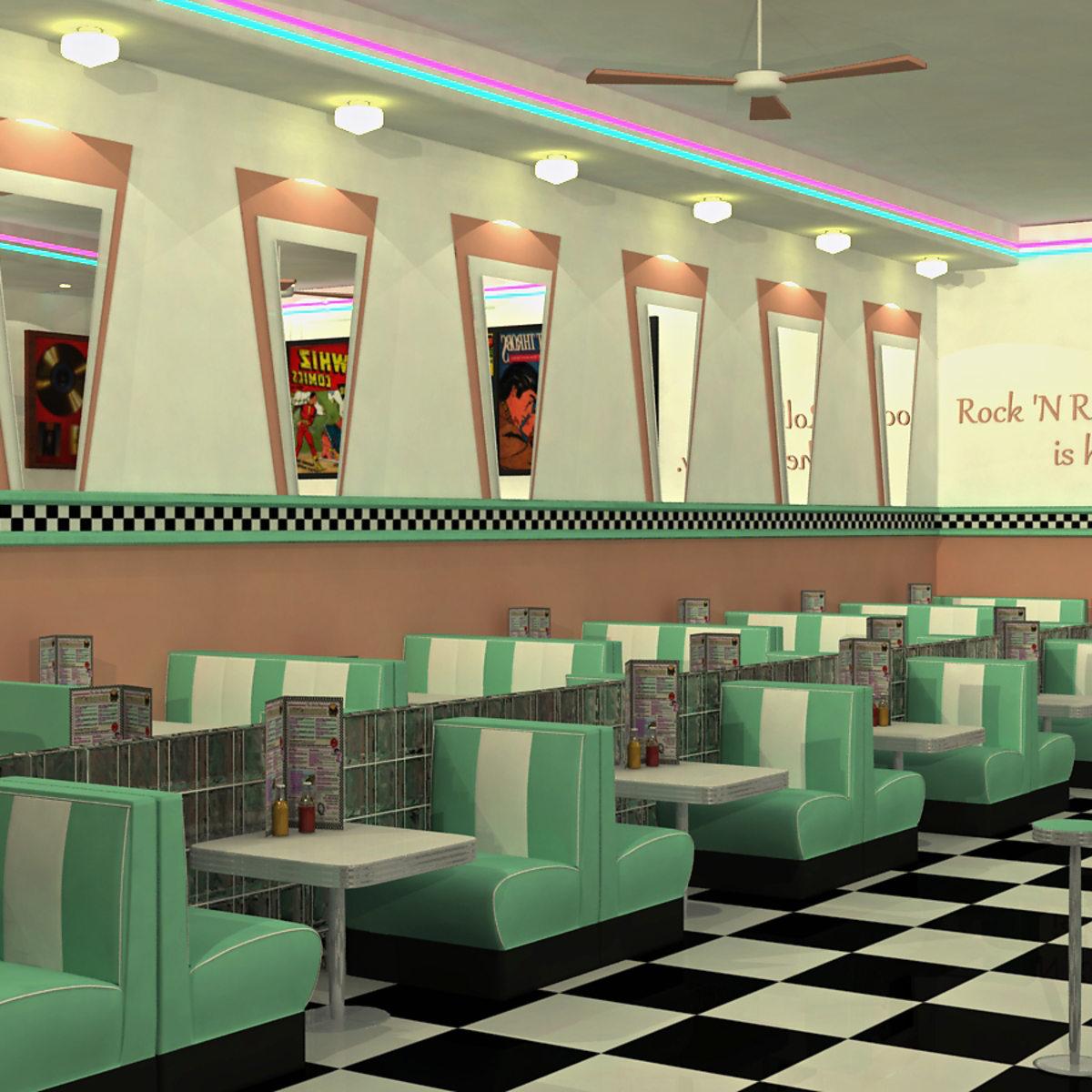 50s Diner 3d Modeling Domestika