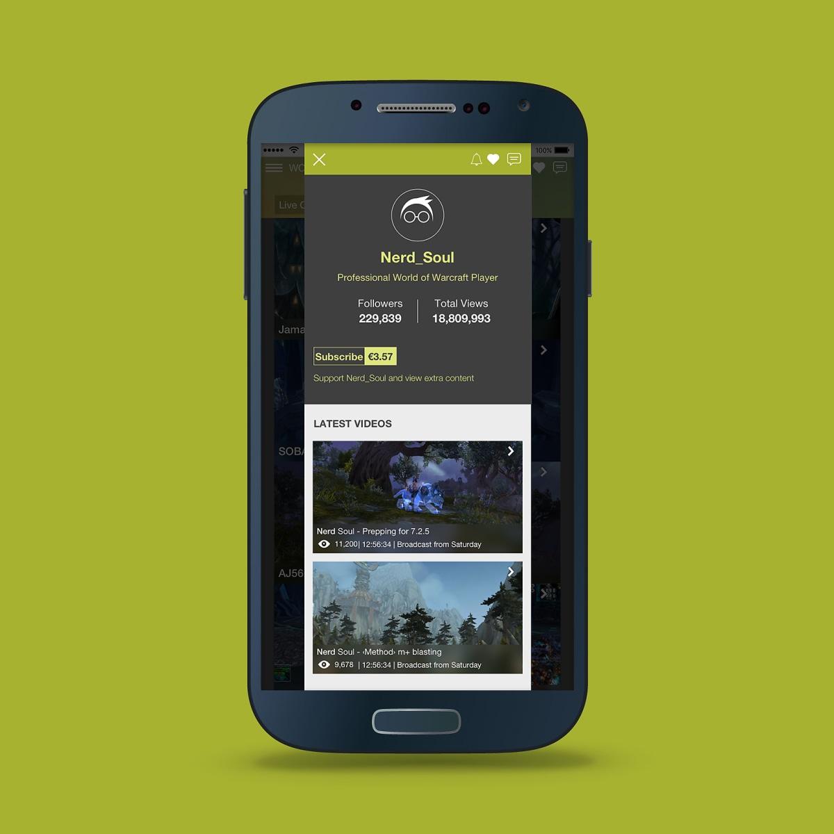 Video Game Streaming App | UI Design | Domestika