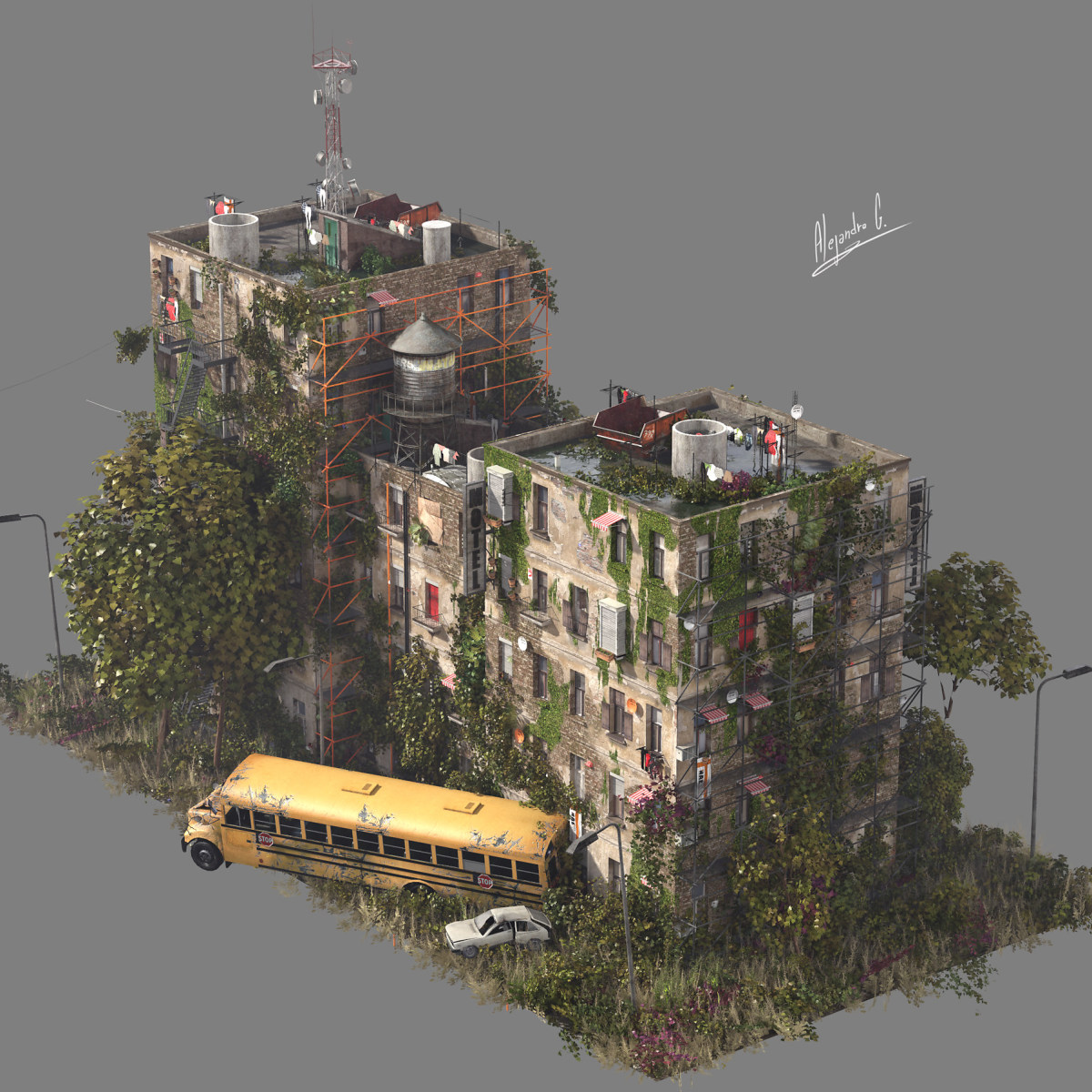 Random Building Generator (Quick sketch) | Domestika