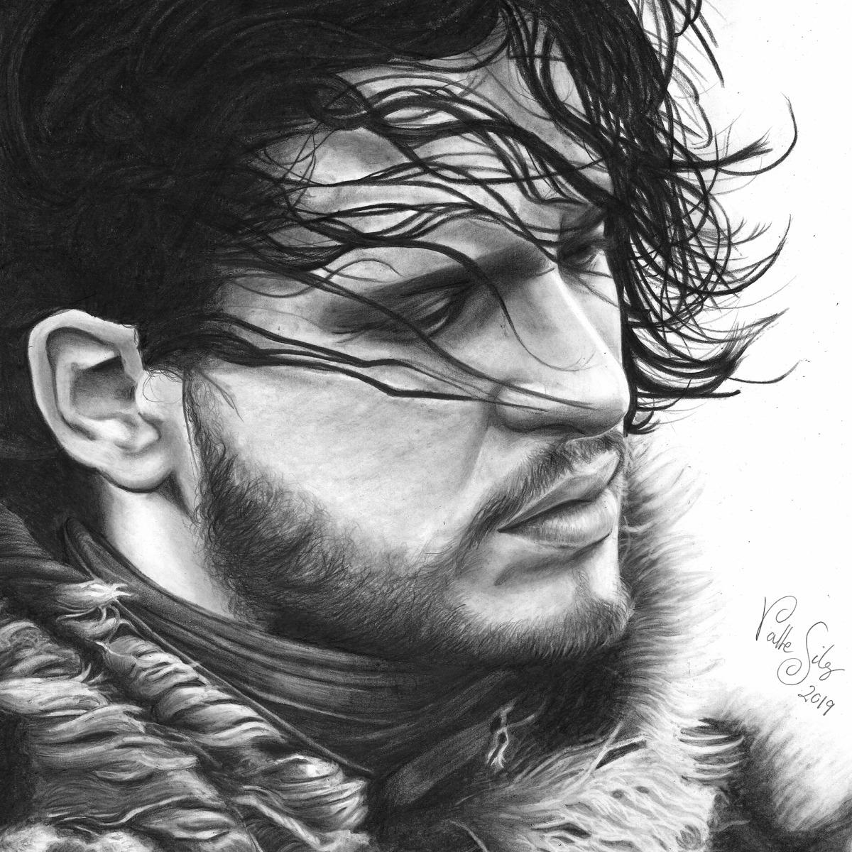Jon Snow Dibujo A Lapiz Domestika