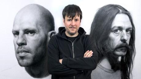 Retrato realista con lápiz de grafito