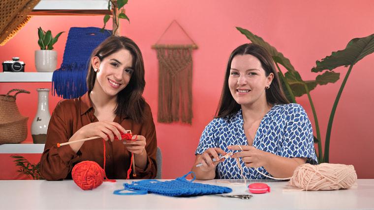 Técnicas básicas de knitting y crochet