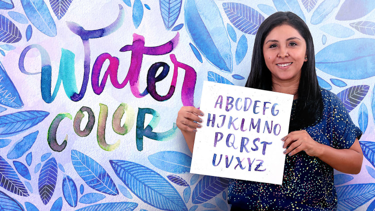 Watercolor Paint Brush Calligraphy for Beginners