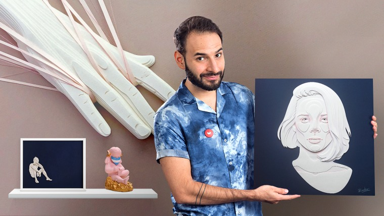 Retratos 3D con capas de papel (Ale Rambar). Curso online | Domestika