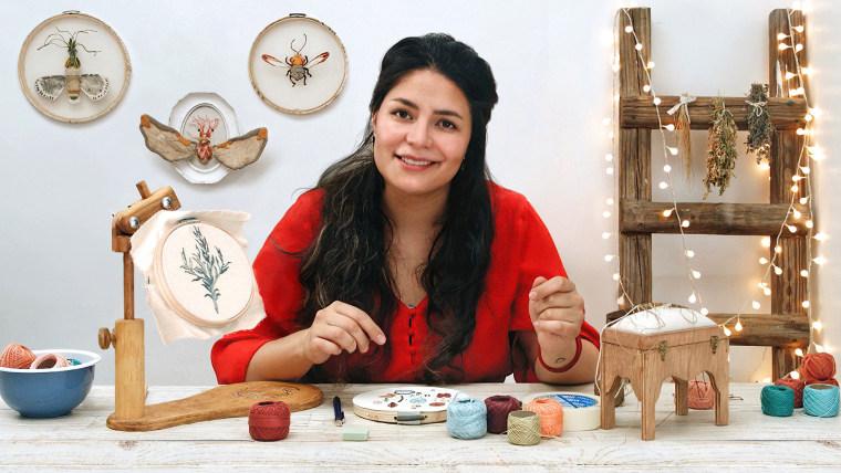 Pintar con hilo: técnicas de ilustración textil (Gimena Romero). Curso  online | Domestika