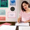 Lettering cursivo para logotipos. A Calligraph, , T, and pograph course by Martina Flor