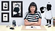 Introducción a la ilustración con tinta china. Un curso de Ilustración de Hilda Palafox