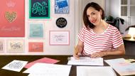 Kursive Beschriftung für Logos. A Kalligrafie und Typografie course by Martina Flor