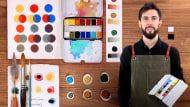 Elaboración de acuarelas artesanales. Un curso de Craft de Scriptorium Yayyan
