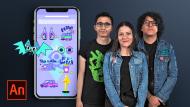 Animiertes Aufkleberdesign für soziale Netzwerke. A 3-D und Animation course by Sociedad Fantasma