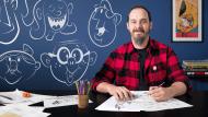 Introduction à la création de personnages dans le style des cartoons. Un cours de Illustration de Ed Vill