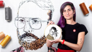 Creation of Embroidered Portraits. A Craft & Illustration course by Bugambilo